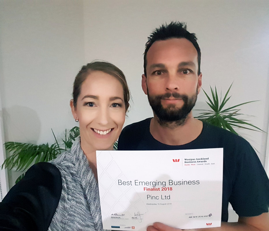 Magriet and Husband from Pinc Printing With Westpac Emerging Business Certificate